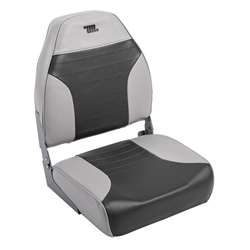 Wise Traditional High Back Fishing BoatSeat Gray-Charcoal