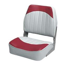 Wise Low Back Fishing Boat Seat Gray-Red