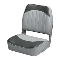 Wise Low Back Fishing Boat Seat Gray-Charcoal