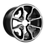 "Can-Am 14"" Rim - Rear for G2 DPS, G2 XT, G2 MAX 650, G2 MAX XT, G2 MAX Limited - Black with clear coat 