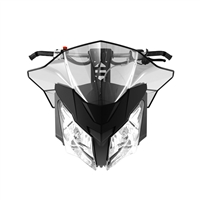 Sport Performance Flared Windshield - Medium, Skidoo part number 860200696