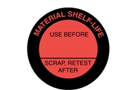 MATERIAL SHELF LIFE Caution Label