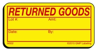Returned Goods Materials Label M002 by GMP Labeling