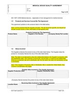 QUALITY AGREEMENTS SOP Template