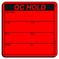 QC Hold Quality Control Label by GMP Labeling