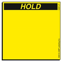 HOLD Quality Control Label