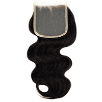 "100% Virgin Remy Human Hair 4""x4"" Lace Closure - Body Wave"