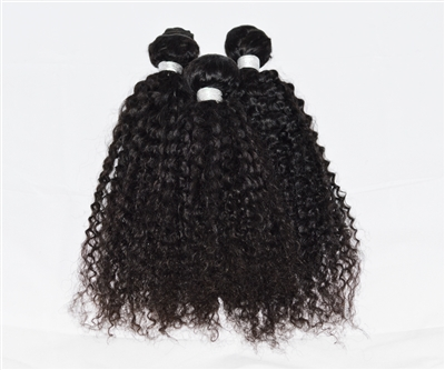 Natural Virgin Brazilian Remy KINKY CURL 3-Pack