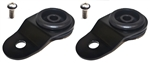 Torque Solution Radiator Mount Combo w/ Inserts (Black) : Mitsubishi Evolution 7/8/9