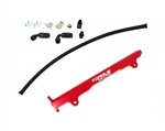 Torque Solution Billet Fuel Rail (Red): Mitsubishi EVO X