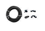 Torque Solution Braided Fuel Feed Line Kit: Mitsubishi EVO 8/9 -6AN