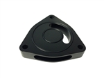 Torque Solution Blow Off BOV Sound Plate (Black): Dodge Caliber SRT-4 08-09