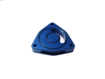 Torque Solution Blow Off BOV Sound Plate (Blue): Hyundai Sonata 2.0T