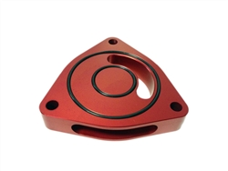 Torque Solution Blow Off BOV Sound Plate (Red): Kia Optima 2.0T