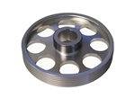 Torque Solution Lightweight Crank Pulley (Silver): Hyundai Genesis Coupe 3.8 2010+