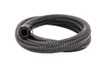 "Torque Solution Nylon Braided Rubber Hose: -8AN 2ft (0.44"" ID)"
