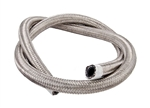"Torque Solution Stainless Steel Braided Rubber Hose: -6AN 50ft (0.34"" ID)"