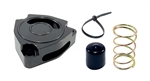 Torque Solution Blow Off BOV Sound Plate (Black): Hyundai Veloster Turbo