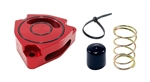 Torque Solution Blow Off BOV Sound Plate (Red): Hyundai Veloster Turbo