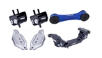 Torque Solution Engine / Trans / Blue Pitch Mount Kit w/ Mount Plates: Subaru WRX 2006-2015 / STI 2006-2016
