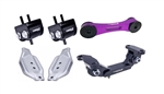 Torque Solution Engine / Trans / Purple Pitch Mount Kit w/ Mount Plates: Subaru WRX 2006-2015 / STI 2006-2016