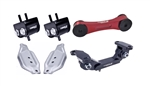 Torque Solution Engine / Trans / Red Pitch Mount Kit w/ Mount Plates: Subaru WRX 2006-2015 / STI 2006-2016