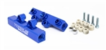 Torque Solution V2 Top Feed Fuel Rails (Blue): Subaru WRX 02-14, STI 07-20, LGT 08-12, FXT 06-13