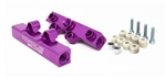 Torque Solution V2 Top Feed Fuel Rails (Purple): Subaru WRX 02-14, STI 07-20, LGT 08-12, FXT 06-13