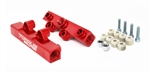 Torque Solution V2 Top Feed Fuel Rails (Red): Subaru WRX 02-14, STI 07-20, LGT 08-12, FXT 06-13