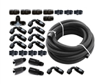 Torque Solution Braided Fuel Line Kit for -6 Aeromotive FPR and Flex Fuel Kit: Subaru WRX 02-14, STI 07-18, LGT 07-12, FXT 06-13