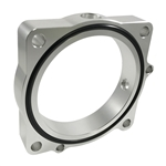 Torque Solution Throttle Body Spacer (Silver): Dodge Challenger / Charger 5.7L  2008-2016