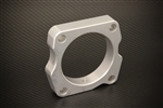 Torque Solution Throttle Body Spacer (Silver): Honda Accord Crosstour 2010+