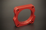 Torque Solution Throttle Body Spacer (Red): Honda Accord V6 2003-2010