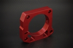 Torque Solution Throttle Body Spacer (Red): Honda Civic Si 1999-2000