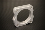 Torque Solution Throttle Body Spacer (Silver): Honda Civic SI 12+