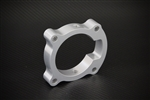 Torque Solution Throttle Body Spacer (Silver): Hyundai Genesis Coupe 2.0T 2010-2012