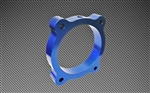 Torque Solution Throttle Body Spacer (Blue): Hyundai Genesis V6 3.8L 2013+