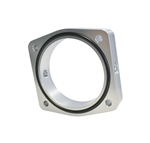 Torque Solution Throttle Body Spacer (Silver): Fits Nissan VQ35DE Engines
