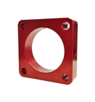 Torque Solution Throttle Body Spacer (Red): Mitsubishi Lancer Evolution GSR / MR  2008-2015