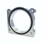 Torque Solution Throttle Body Spacer (Silver): Ford F-150 3.5L Ecoboost / 3.7L V6