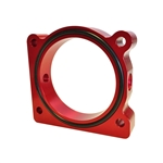 Torque Solution Throttle Body Spacer (Red): Ford F-150 3.5L Ecoboost / 3.7L V6