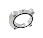 Torque Solution Throttle Body Spacer (Silver): Hyundai Genesis Coupe 2.0T 2013+