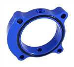 Torque Solution Throttle Body Spacer (Blue): Hyundai Genesis Coupe 2.0T 2013+