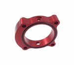 Torque Solution Throttle Body Spacer (Red): Hyundai Genesis Coupe 2.0T 2013+