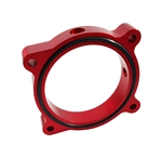 Torque Solution Throttle Body Spacer (Red): Ford Mustang GT 5.0L 2011-2016