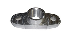 Torque Solution Billet Oil Drain Flange: Universal T3/T4 & PTE Turbos