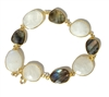 Rainbow Moonstone & Labradorite Bracelet - Brings success in love, Psychic Protection, Sleep Enhancer, Deflects Negativity, Brings Good Fortune