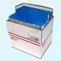 "Foil Insulated Box Liners, 12"" x 12"" x 6"" USPS Large Flat Rate"