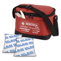 "Nortech Lunch Cooler Bag with (2) 4"" x 6"" Gel Blox Cold Shipping Packs"