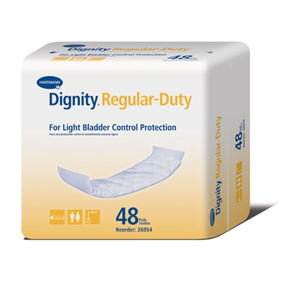"Dignity Regular-Duty Disposable Pads, 4"" x 12"" - 240/Case"